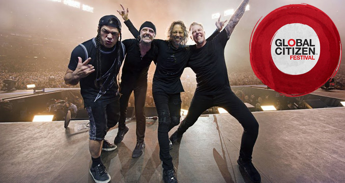 Metallica for free beim Global Citizen Festival in New York - so geht's!