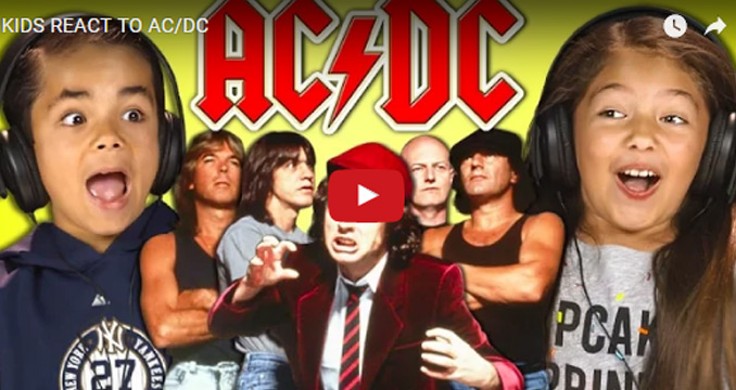 Kids React to AC/DC: Sound top, Outfits flop
