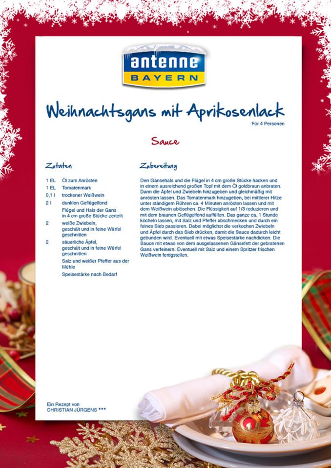 rezept: die perfekte weihnachtsgans von 3-sterne-koch christian ... - Sterne Köche Bayern