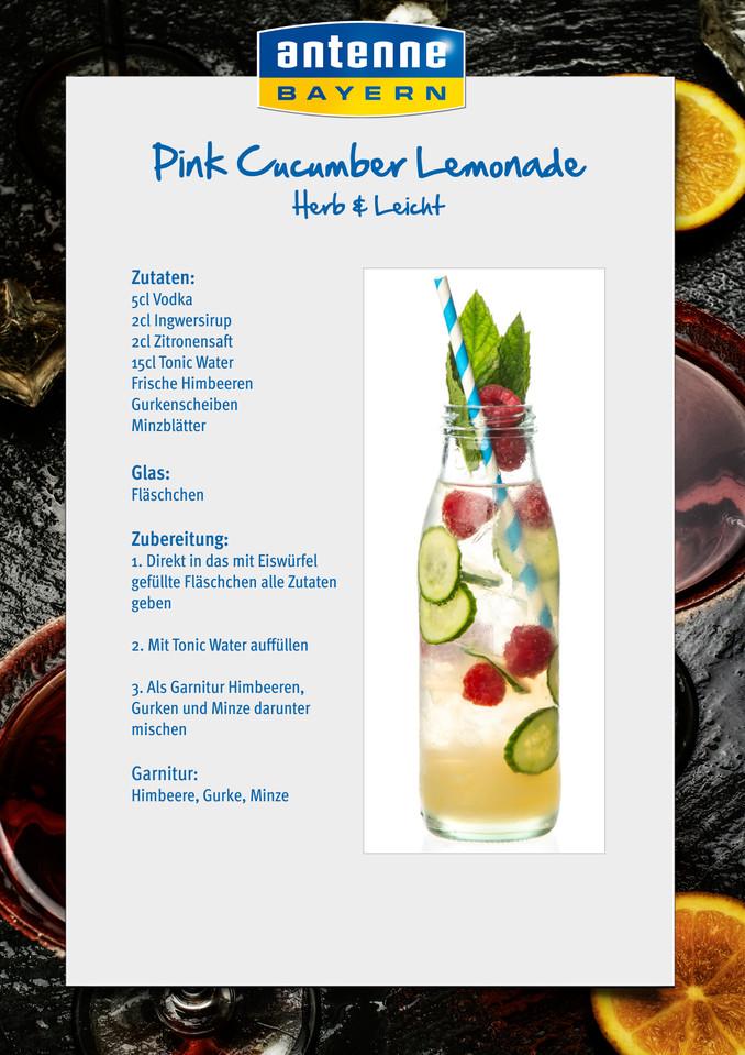 """Homemade Lemonade """"Herb & Leicht"""": Pink Cucumber Lemonade ...  Homemade Lemona..."""