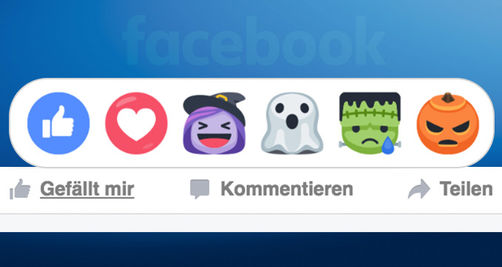 Neue Halloween-Reactions geistern durch Facebook