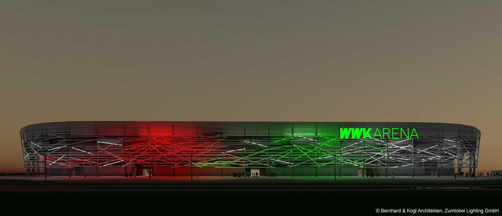 da strahlt augsburg stadion des fc augsburg bekommt neue. Black Bedroom Furniture Sets. Home Design Ideas