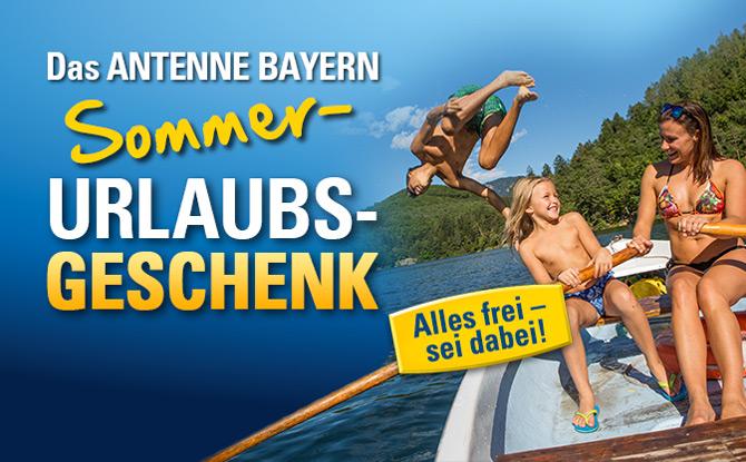 Das ANTENNE BAYERN Sommer-Urlaubs-Geschenk: Alles frei – sei dabei!