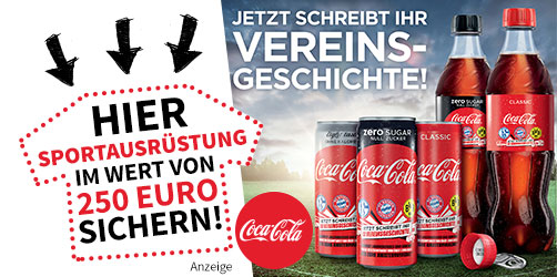 Mit Coca-Cola Vereinsgeschichte schreiben!