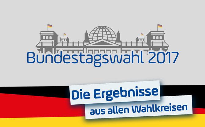 Bundestagswahl 2017: Das Ergebnis in Ihrem Wahlkreis