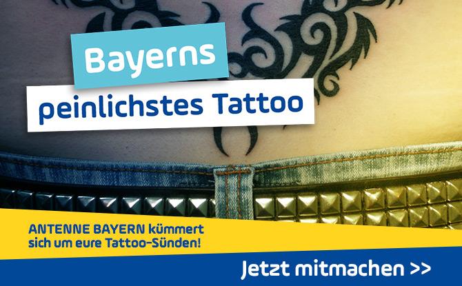 ANTENNE BAYERN kümmert sich um eure Tattoo-Sünden!