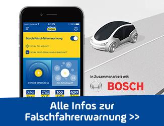 Brandneu: ANTENNE BAYERN und Bosch warnen jetzt per App vor Falschfahrern