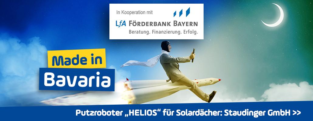 """""""Staudinger GmbH"""": Putzender """"Mars-Roboter"""" für bayerische Solardächer"""