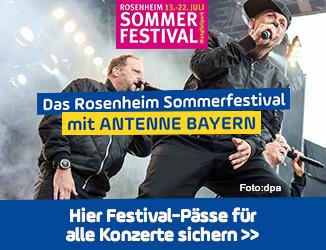Das Rosenheim Sommerfestival mit ANTENNE BAYERN: Festival-Pässe für alle Konzerte sichern