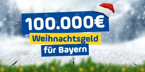 100.000 Euro Weihnachtsgeld für Bayern