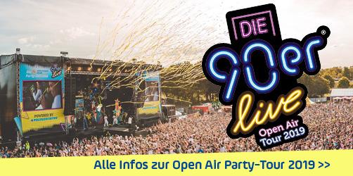 """Einmalige Open Air Party Tour: ANTENNE BAYERN präsentiert """"Die 90er live"""""""