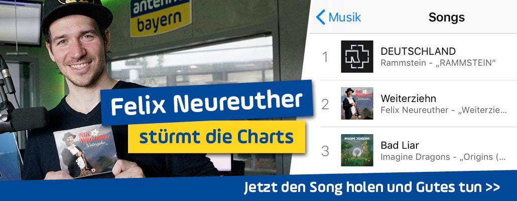 "Chartstürmer Felix Neureuther: ""Weiterziehn"" schon Nummer-eins-Hit"