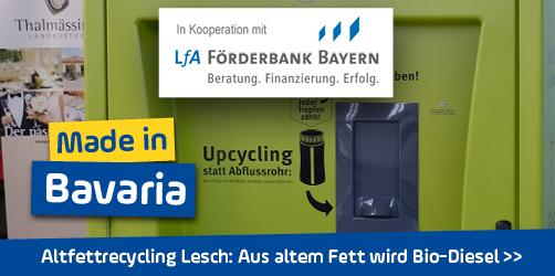 <em>Altfettrecycling Lesch</em> in Mittelfranken: Aus altem Fett wird Bio-Diesel