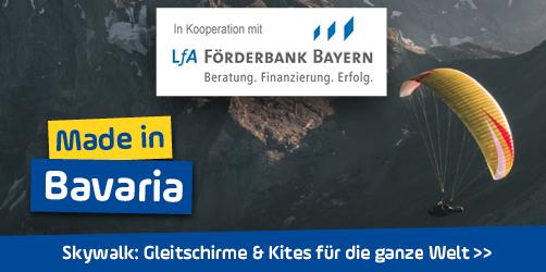 <em>Skywalk</em> in Oberbayern: Diese Firma entwickelt Gleitschirme & Kites für die ganze Welt