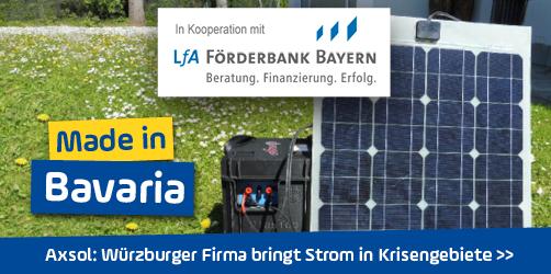<em>Axsol</em> in Unterfranken: Würzburger Firma bringt Strom in Krisengebiete