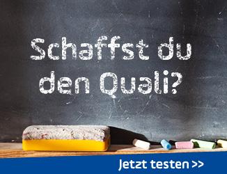 Quiz: Schaffst du den Quali?