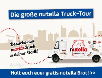 Die große nutella Truck-Tour