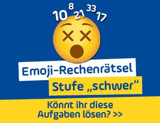 """Emoji-Rechenrätsel - Stufe """"schwer"""": Das sind die Lösungen!"""