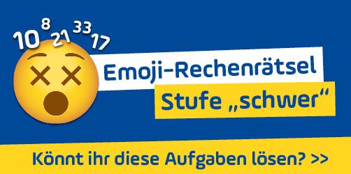 """Emoji-Rechenrätsel - Stufe """"schwer"""": Könnt ihr diese Aufgaben lösen?"""
