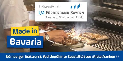 <em>Nürnberger Bratwurst</em> aus Mittelfranken