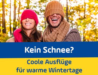 Frühlingsgefühle im Januar: Coole Ausflüge für warme Wintertage