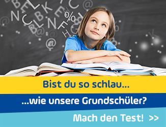 Bist du so schlau wie unsere Grundschüler? Mach den Test!