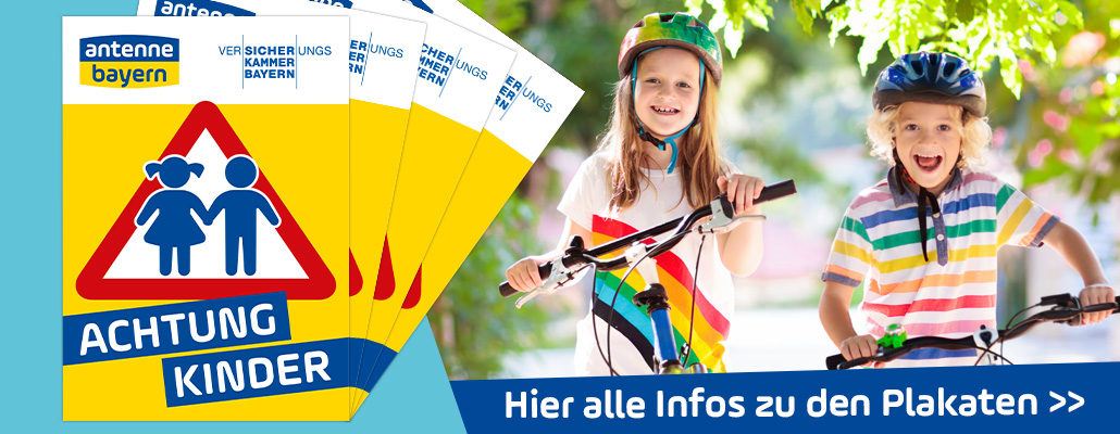 ACHTUNG KINDER-Plakate 2021
