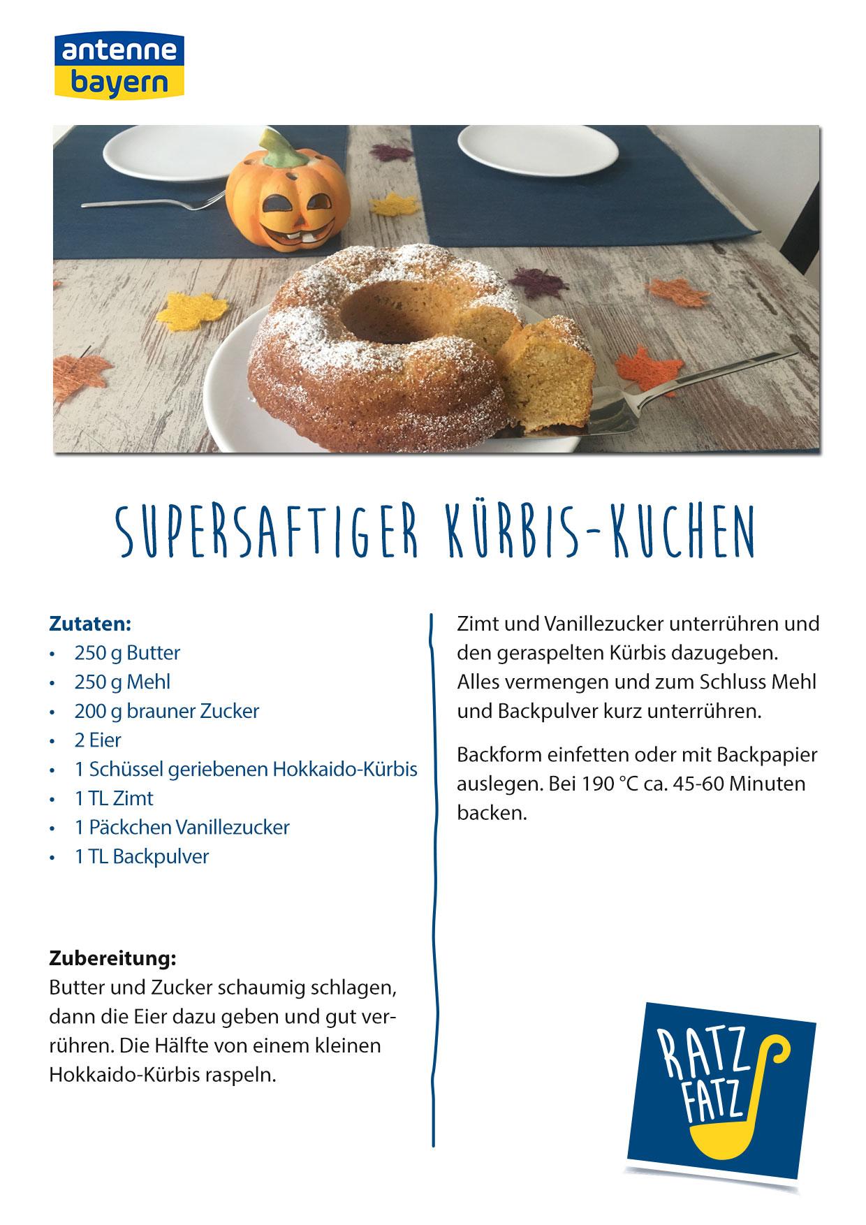 Supersaftiger Kurbis Kuchen Antenne Bayern