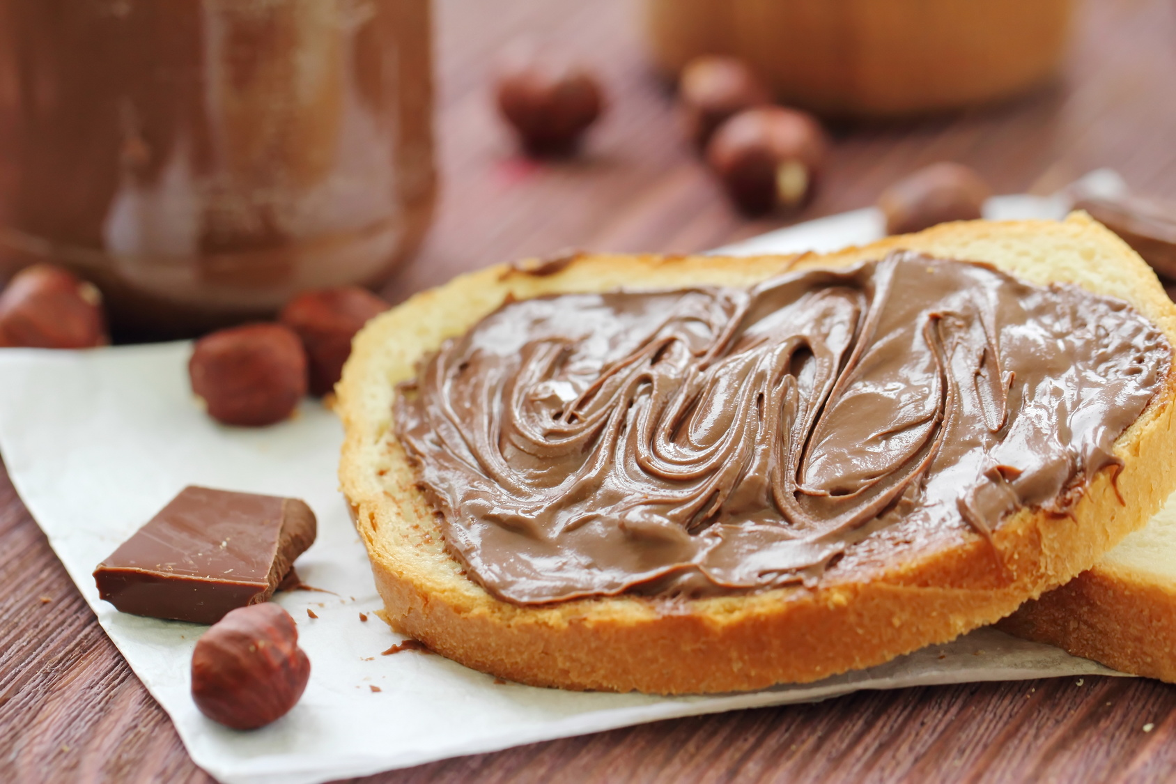 Isst du Nutella mit Butter drunter?