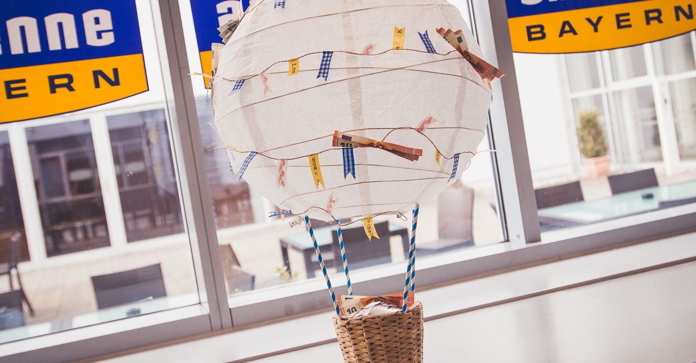 Der Hingucker Schlechthin Der Bezaubernde Heissluftballon Mit Geld