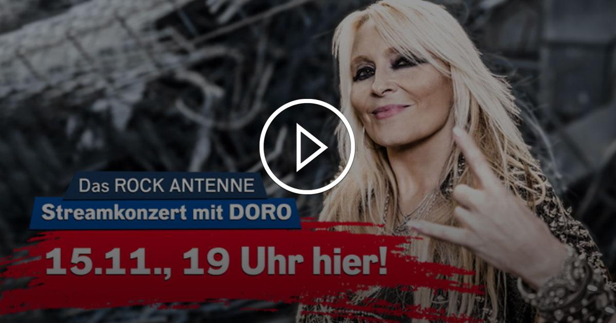 DORO Live im Stream: Klickt rein beim exklusiven ROCK ANTENNE Streamkonzert am 15.11.!