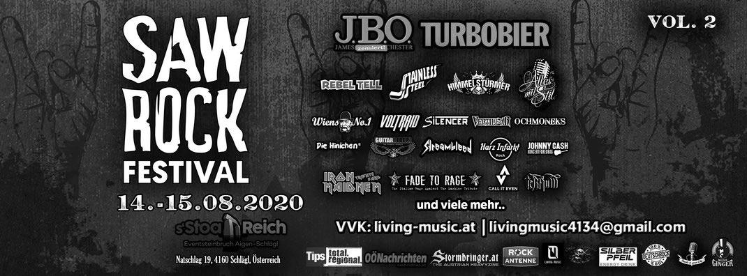 13.-15.08.2021: SAW ROCK Festival / Schlägl
