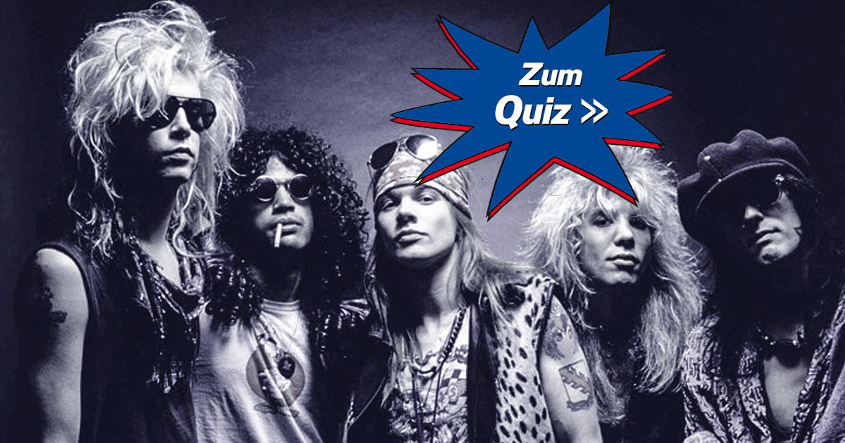 Get in the Ring: Wie gut kennst du Guns N'Roses?