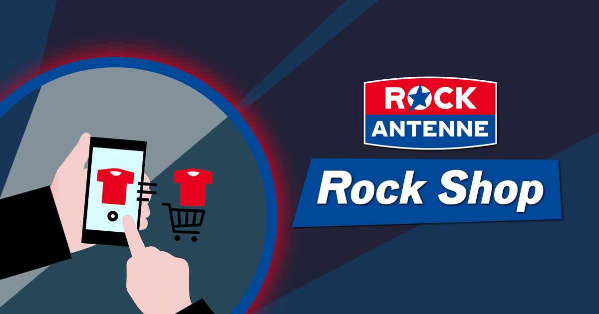 Der ROCK ANTENNE Rock Shop: Jetzt reinklicken und Tassen, T-Shirts, Taschen und mehr entdecken!
