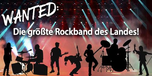 Wir suchen EUCH: Macht mit bei der größten Rockband des Landes!