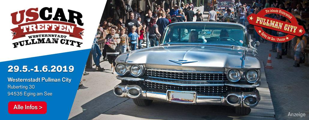 Coole Schlitten, Shows und Typen: US Car-Treffen in Pullman City von 29.5. bis 1.6.