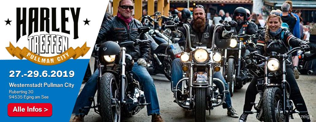 Harley-Davidson & Rock'n'Roll pur: Harley-Treffen in Pullman City von 27. bis 29.6.