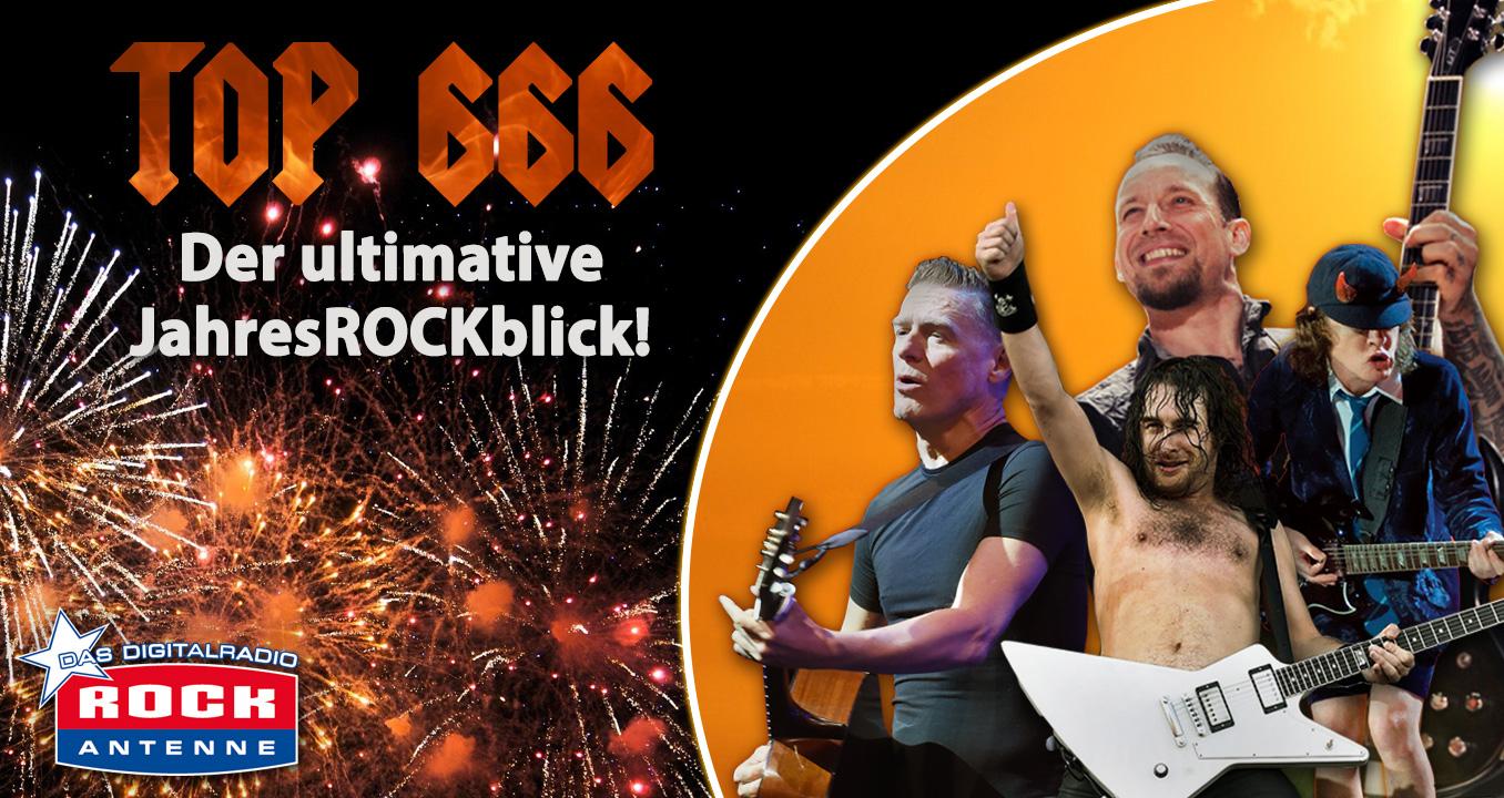 Der ultimative JahresROCKblick - mit den 666 besten Rocksongs aller Zeiten!