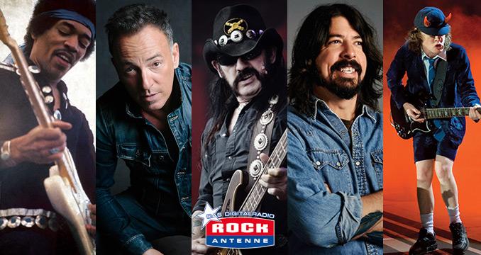 Die 100 größten Männer der Rockgeschichte auf ROCK ANTENNE