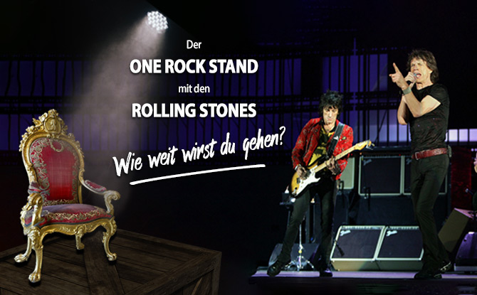Der ONE ROCK STAND mit den Rolling Stones: And the winner is...
