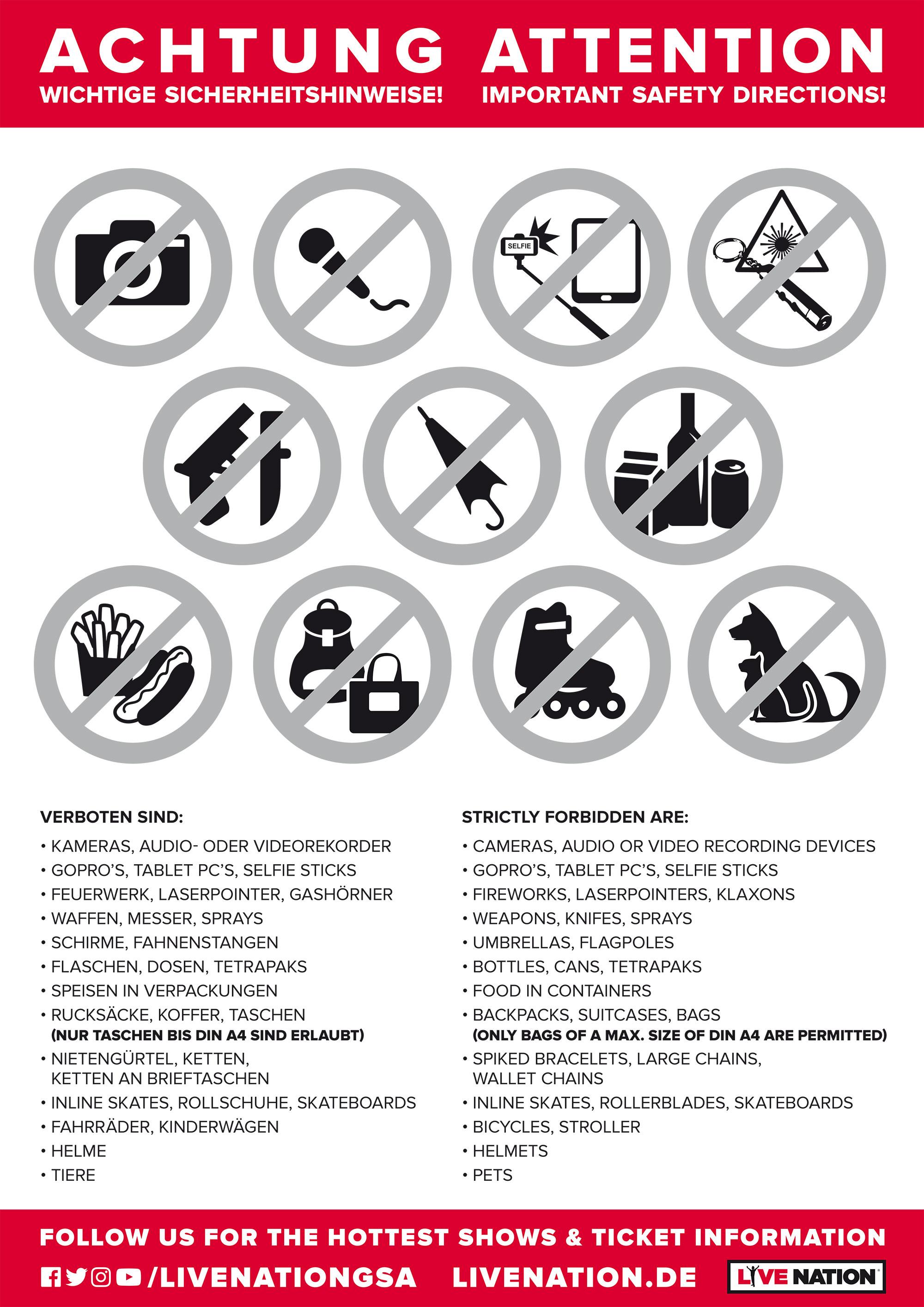 Verstärkte Sicherheitskontrollen in der Olympiahalle - Alle Infos dazu hier