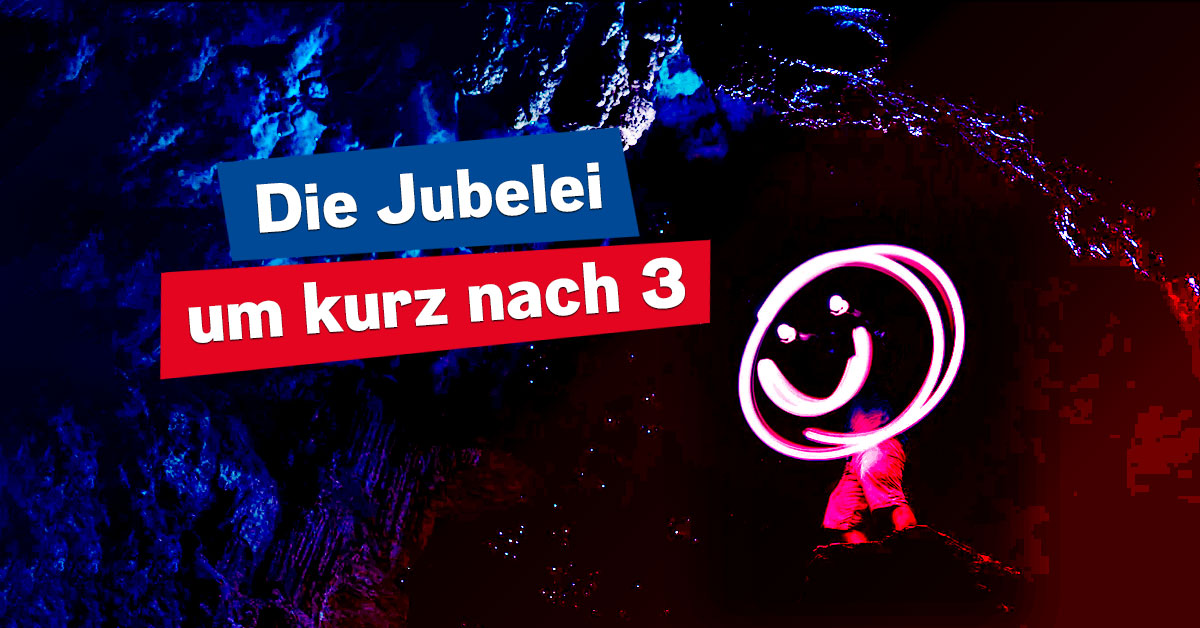 Die Jubelei um kurz nach 3: Der beste Start in den Nachmittag!