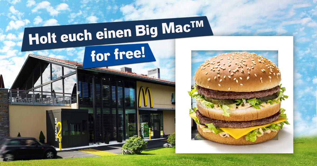 Burger Man: Holt euch einen McDonalds Big Mac® for free mit dem ROCK ANTENNE Gutschein!