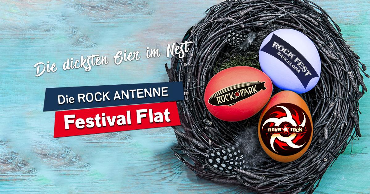 Holt euch die ROCK ANTENNE Festival Flat!
