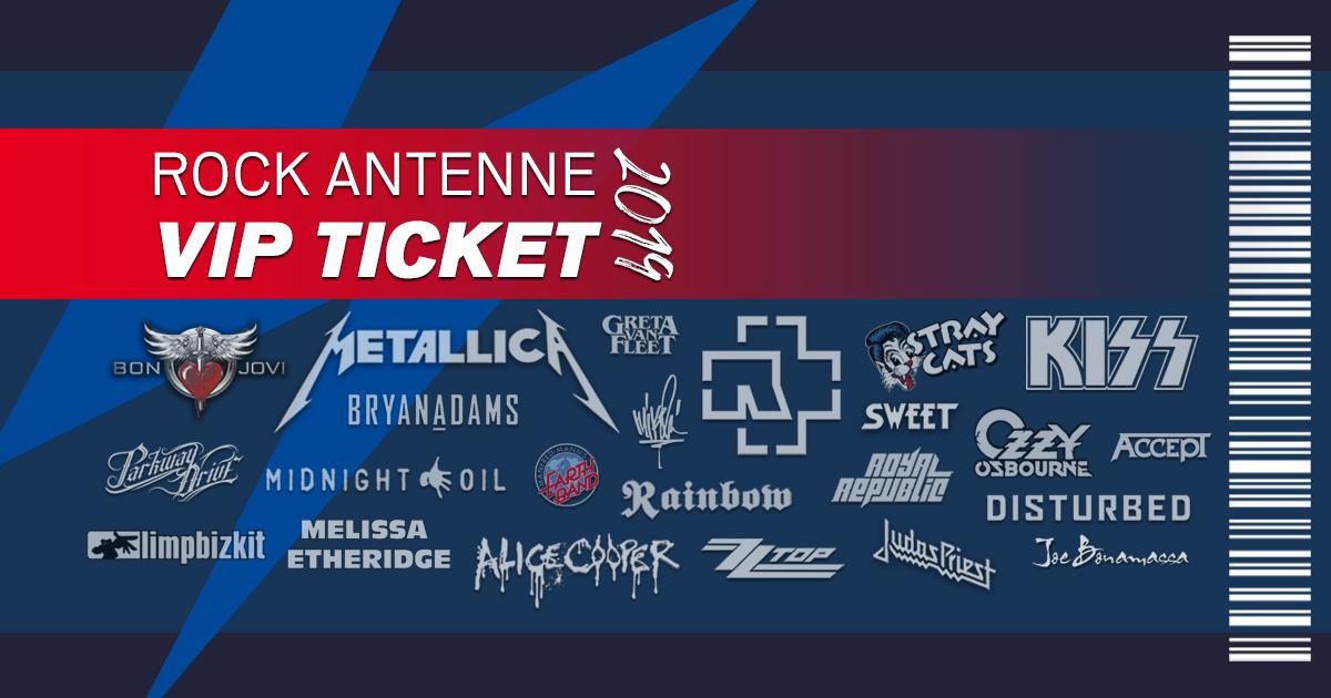 Das ROCK ANTENNE VIP Ticket: Erlebt das Konzertjahr eures Lebens!