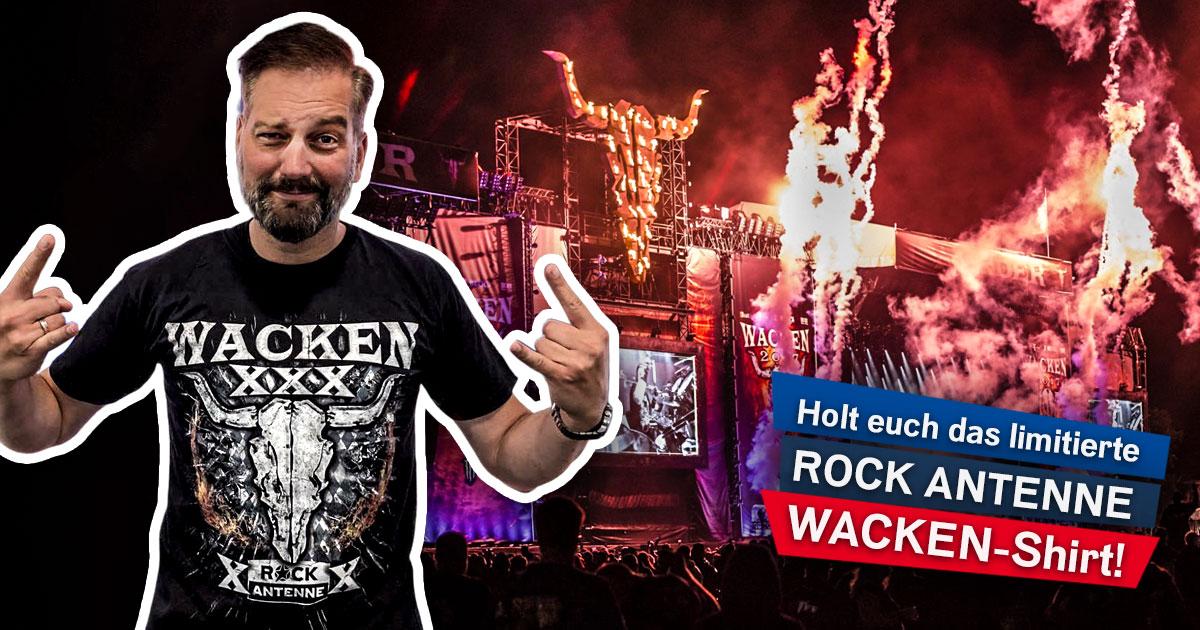 50 Years of Solid Rock: Newsletter abonnieren und exklusives Wacken-Shirt sichern!