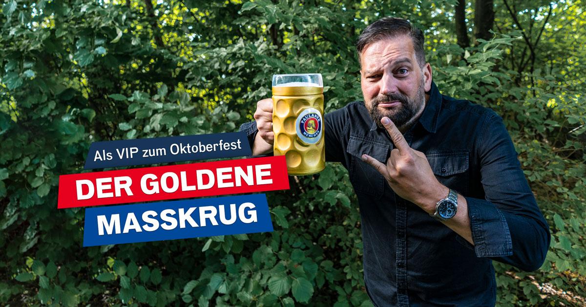 Der goldene Maßkrug: Erlebt das Oktoberfest wie ein Rockstar!