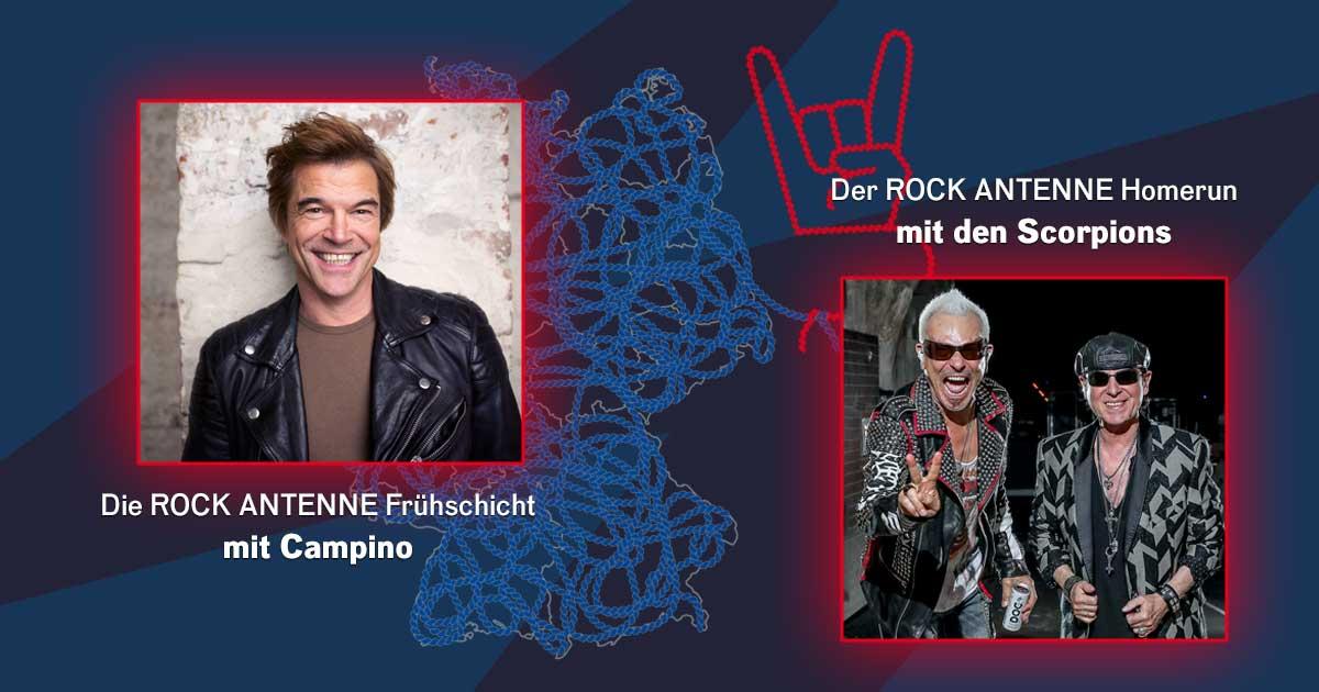 Campino & die Scorpions zu Gast bei ROCK ANTENNE - die Sendungen zum Nachhören