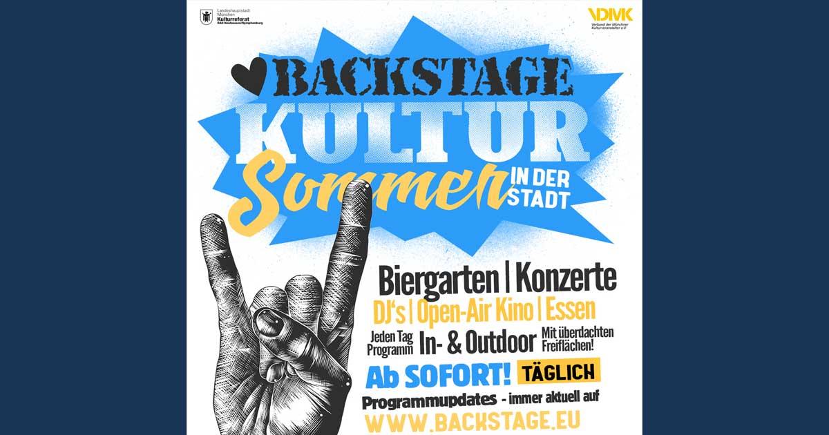 Ab 23.07.2020: Kultursommer in der Stadt / Backstage München