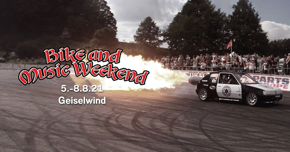 05.-08.08.2021: Bike and Music Weekend in Geiselwind - präsentiert von ROCK ANTENNE